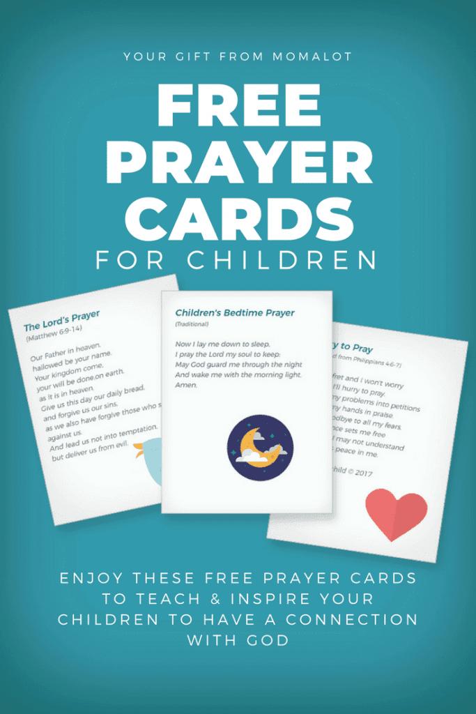 children's prayer cards