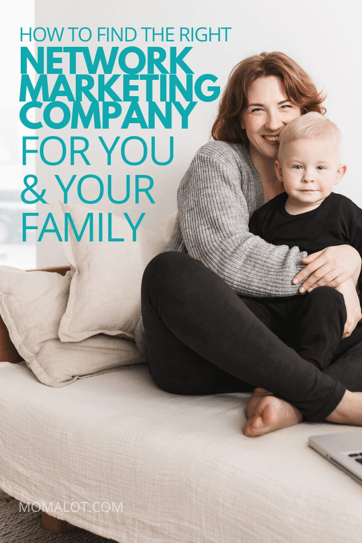 Happy mom with child - how to find the right network marketing company for you and your family