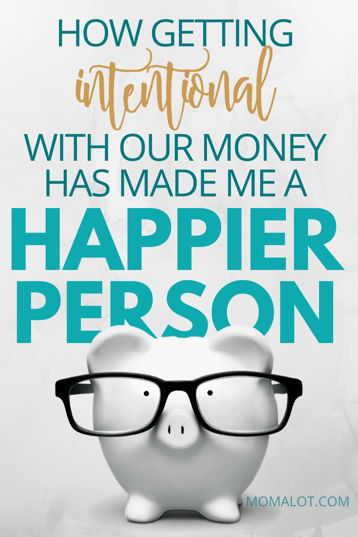 piggy bank with glasses and title How Getting Intentional With My Money Has Made Me a Happier Person