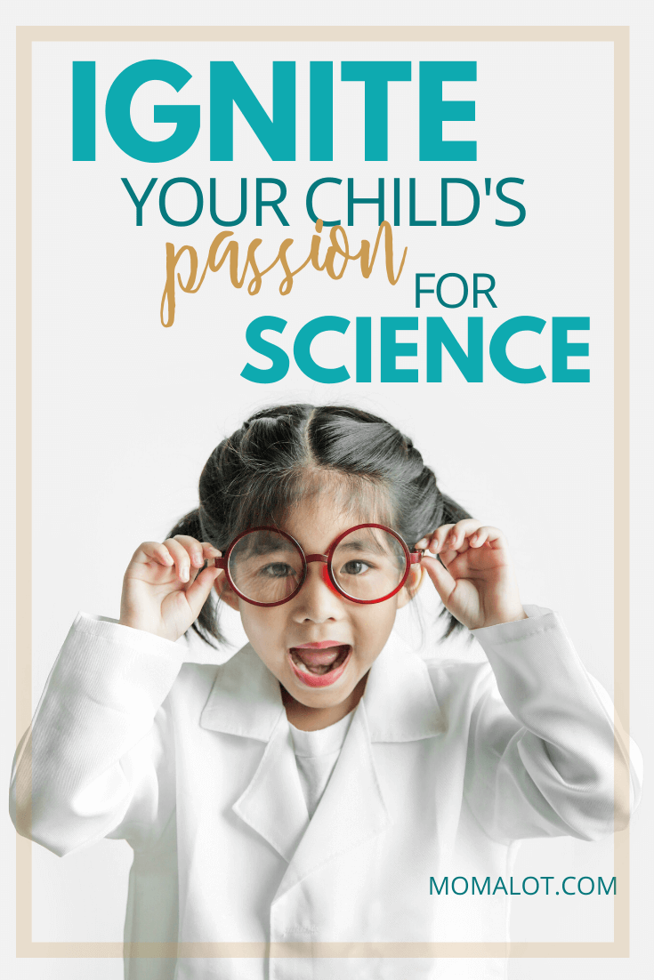 cute girl in glasses and lab coat child scientist