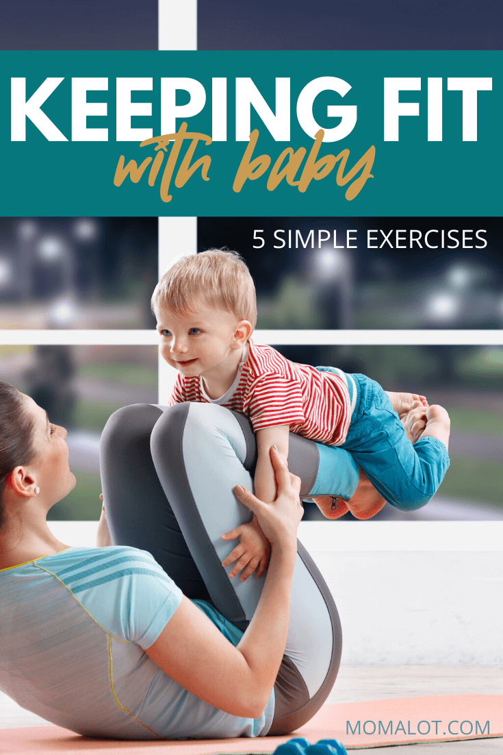mom and baby exercise together