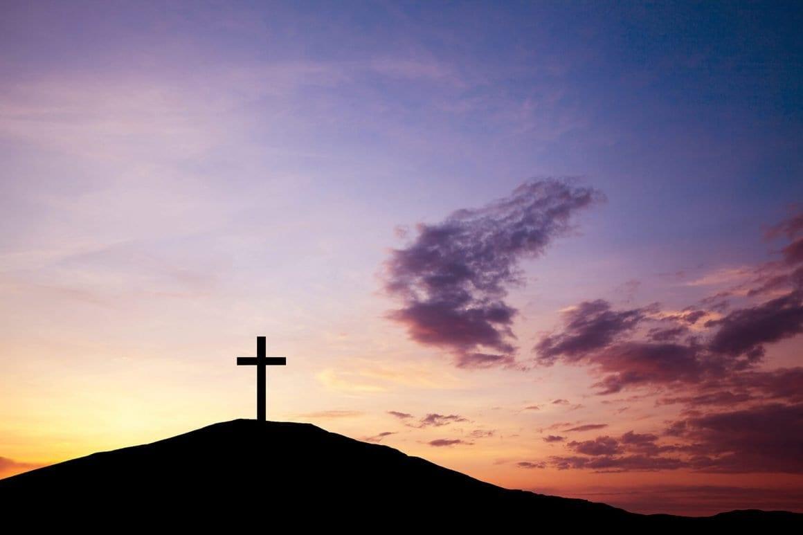 cross on the hill hail jesus faith christ