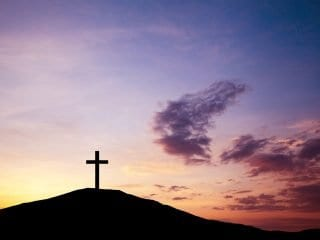 cross on the hill hail jesus faith christ