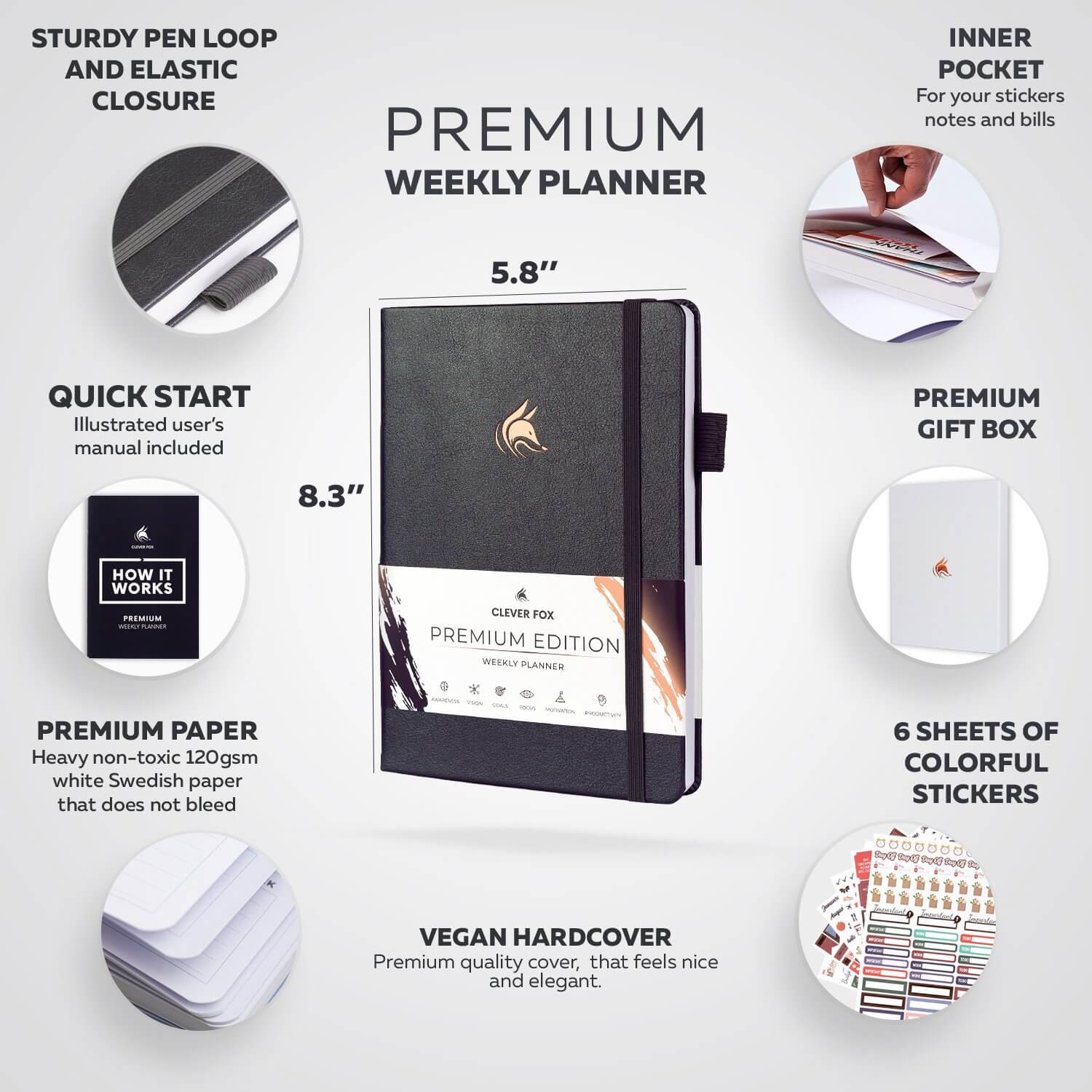clever fox premium weekly planner 2021